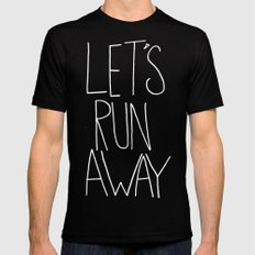 Let's Run Away x Arcadia Beach SMALL Mens Fitted Tee Black