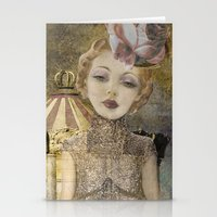 The life of a girl in the circus. Stationery Cards