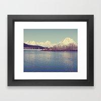 Grand Tetons On The Lake Framed Art Print