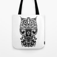The Old Owl  - Black Tote Bag