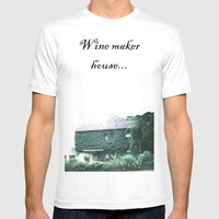 Wine maker house Mens Fitted Tee White SMALL