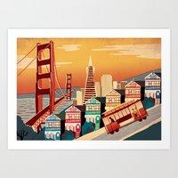 san francisco Art Prints featuring San Francisco by Sam Brewster