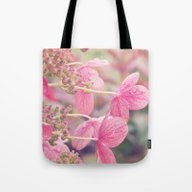 Pink Lacecap Hydrangea F… Tote Bag