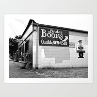 Linda's Books Art Print