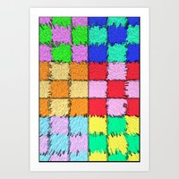 Chromatic Metropolis Art Print