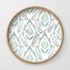 Soft Ikat Wall Clock