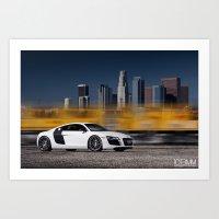 Audi R8 Art Print