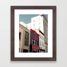 Main Street Downtown Durham NC Framed Art Print