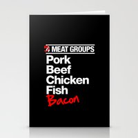 5 Major Meat Groups Stationery Cards