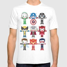'UNCANNY AVENGERS' ROBOTICS SMALL Mens Fitted Tee White