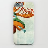 iPhone & iPod Case featuring Finn Riggins gig poster by Santiago Uceda