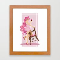 Sailor Moon Pinup - Chibiusa Cupcake Framed Art Print
