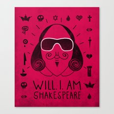 Will.i.am Shakespeare Canvas Print