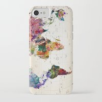 graffiti iPhone & iPod Cases featuring map by mark ashkenazi