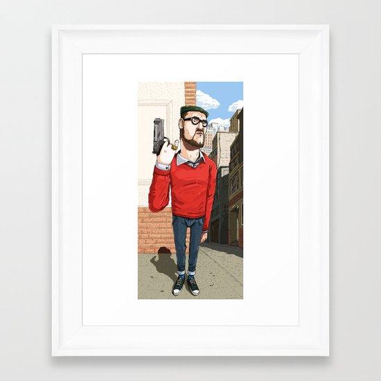 Elegantly Evil Framed Art Print