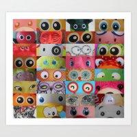 Eyes Eyes Eyes  Art Print