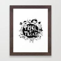 For Halloween - Trick Or… Framed Art Print
