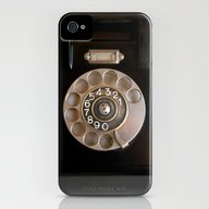 OLD BLACK PHONE iPhone (4, 4s) Slim Case