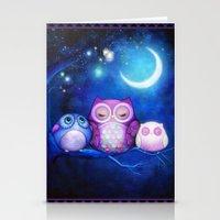 Night Owls & Fairy Lanterns Stationery Cards