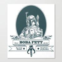 Famous Boba fett for hire! Canvas Print