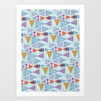 Geometric Mid Century Mo… Art Print