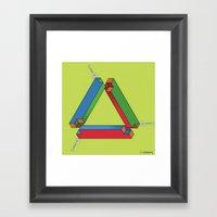 IMPOSSIBLE TRIBAR Framed Art Print