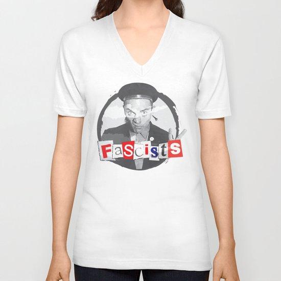 FASCISTS V-neck T-shirt