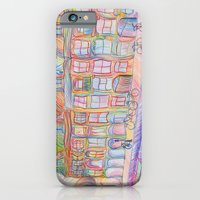 iPhone & iPod Case featuring Wandering Amsterdam - Colored Pencil by Nicole Cleary