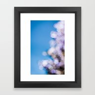 Bokeh Xmas Tree Framed Art Print