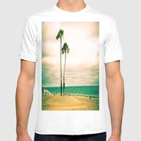 Lone Palms Mens Fitted Tee White SMALL