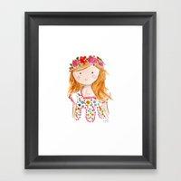 Sister Golden Hair Surpr… Framed Art Print