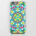 Mandala - Dark Neon iPhone & iPod Case