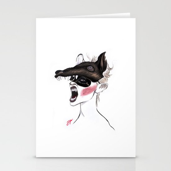 The Masquerade: The Wolf Stationery Card