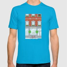 Pinwhistle Way Faccade Mens Fitted Tee Teal SMALL