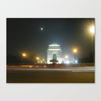 Rush Hour - India Gate Canvas Print