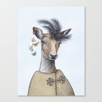 Fashion Deer Canvas Print