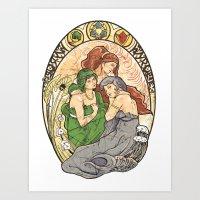 Goddesses of Hyrule Art Print