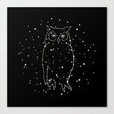 Owl Constellation  Canvas Print
