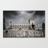 Faded Memories: Jedburgh Abbey Canvas Print