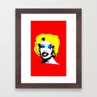 Amanda Lepore x Marilyn Monroe. Framed Art Print