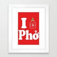 I Heart Pho Framed Art Print