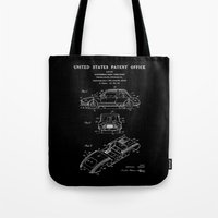 Automobile Body Patent - Black Tote Bag
