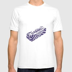 Caramel wafer pen drawing (blue) Mens Fitted Tee SMALL White