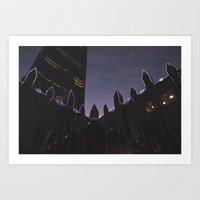 Market Square Christmas Art Print