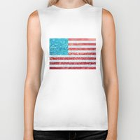 Red, White, And Glitter … Biker Tank