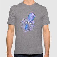 Bear meets whale Mens Fitted Tee Tri-Grey SMALL