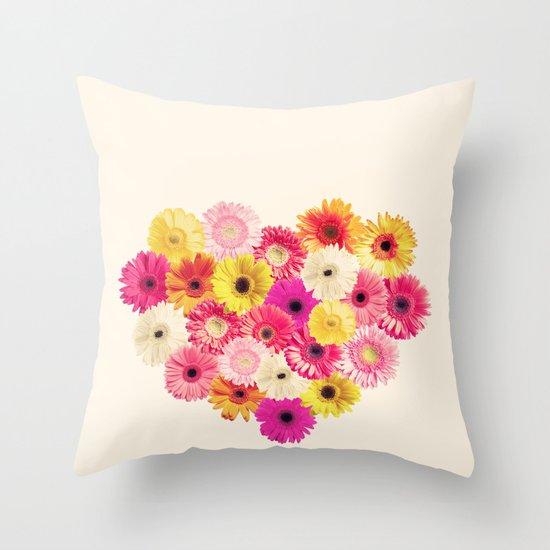 Heart of Flowers  Throw Pillow