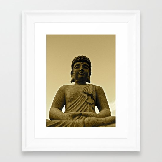 Buddha Prays Framed Art Print
