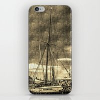 Thames Sailing Barges Vintage iPhone & iPod Skin