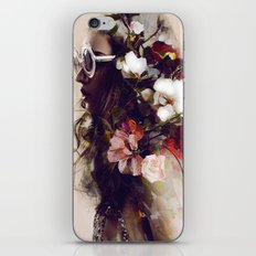 The girl with the flowers in her hair iPhone & iPod Skin